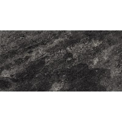 Alpe Black 12 in. x 24 in. Porcelain Floor and Wall Tile (15.5 sq. ft./Case)