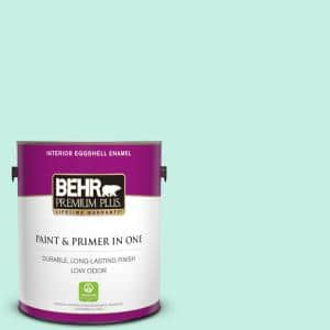 1 gal. #P430-1 Summer House Eggshell Enamel Low Odor Interior Paint and Primer in One