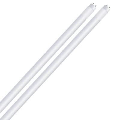 18-Watt 4 ft. Linear T8 Plug and Play LED Tube Light Bulb, Daylight 5000K (2-Pack)