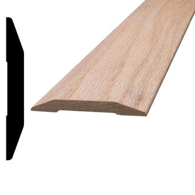 7/16 in. x 3-1/4 in. x 96 in. Oak Saddle Threshold Moulding