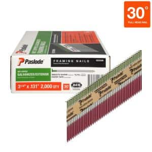 3-1/4 in. x 0.131-Gauge 30-Degree Galvanized Smooth Shank Paper Tape Framing Nails (2,000 per Box)
