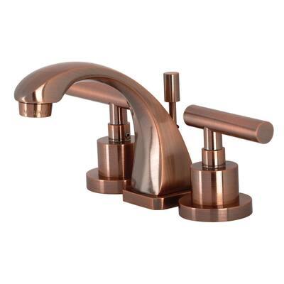 Manhattan 8 in. Widespread 2-Handle Bathroom Faucet in Antique Copper