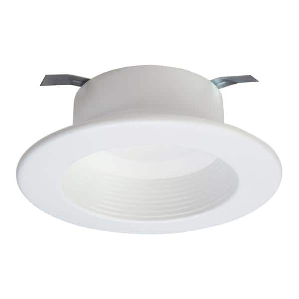 Halo Rl4 Series 4 In Soft White Selectable Cct Integrated Led Recessed Light With Retrofit Baffle White Trim Rl4069s1ewhr The Home Depot