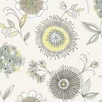 Maisie Green Floral Burst Multicolor Wallpaper Sample