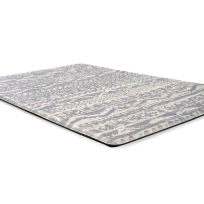 Gray Distressed Boho 18 in. x 47 in. Anti Fatigue Standing Mat