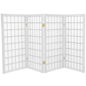 3 ft. White 4-Panel Room Divider