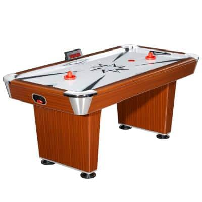 Midtown 6 ft. Air Hockey Family Game Table w/ Electronic Scoring, High-Powered Blower, Strikers and Pucks