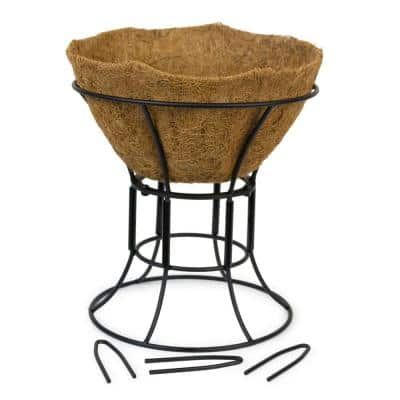 12 in. Dia Black Hose Guide Plant Stand