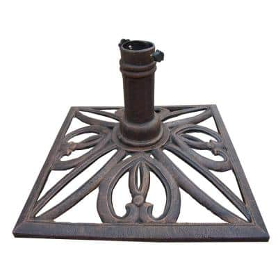 Square Patio Umbrella Base in Antique Bronze