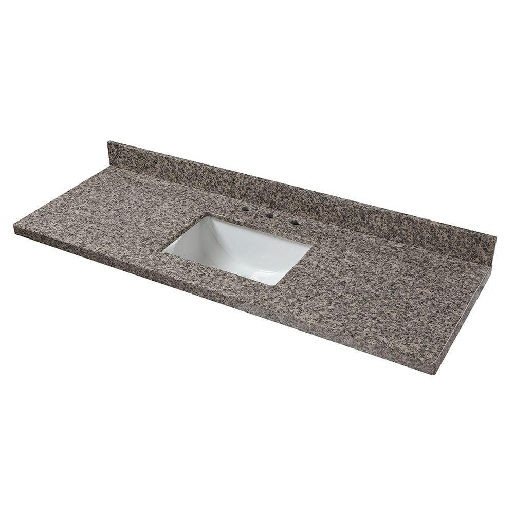 Home Decorators Collection 61 In W Granite Single Sink Vanity Top In Sircolo 61887 The Home Depot