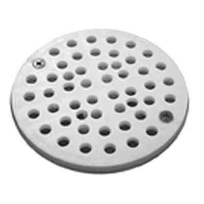 6-3/4 in. O.D. PVC Strainer with 2 Screws for Floor Drains