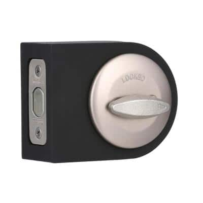 663 Single-Sided Deadbolt in Satin Nickel with Microban Antimicrobial Technology