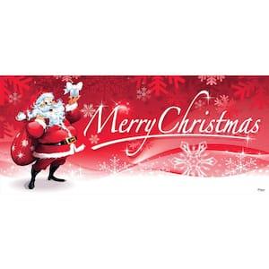 7 ft. x 16 ft. Santa's Merry Christmas Garage Door Decor Mural for Double Car Garage