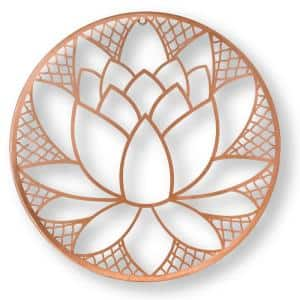 16 in. x 16 in. ''Lotus Blossom'' Metal Wall Art