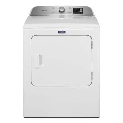 7.0 cu. ft. 120-Volt White Gas Vented Dryer with Moisture Sensing