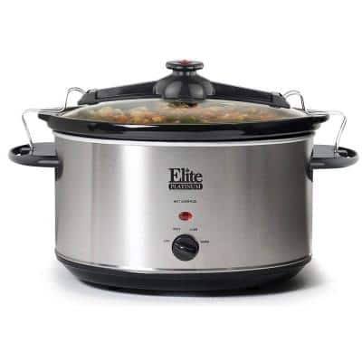 Platinum 8.5 Qt. Stainless Steel Slow Cooker with Locking Lid