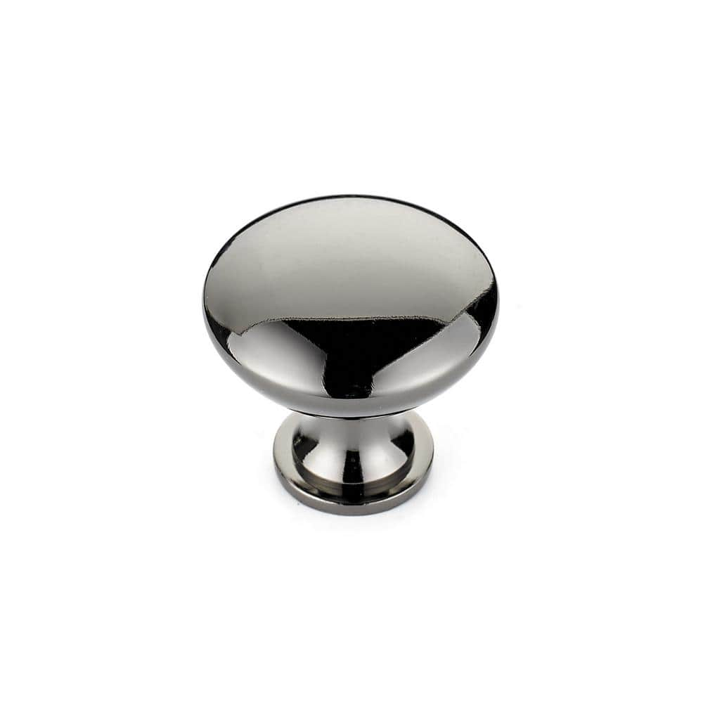 Richelieu Hardware 1 3 16 In 30 Mm Black Nickel Contemporary Metal Cabinet Knob Bp904191 The Home Depot