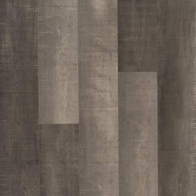 Outlast+ 6.14 in. W Standout Grey Oak Waterproof Laminate Wood Flooring (16.12 sq. ft./case)