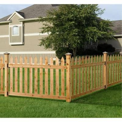 3-1/2 ft. H x 6 ft. W Cedar Spaced Picket Routed Fence Panel Kit