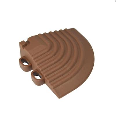 2.5 in. x 2.5 in. Walnut Brown Corner Edging for 15.75 in. Modular Tile Flooring (2-Pack)