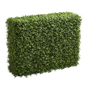 Indoor/Outdoor 39 in. Boxwood Artificial Hedge