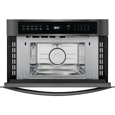 1.6 cu. ft. Built in Microwave in Black Stainless Steel with Drop Down Door