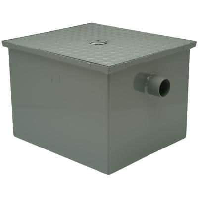33 in. x 23 in. Steel Grease Trap with 3 in. No Hub Inlet