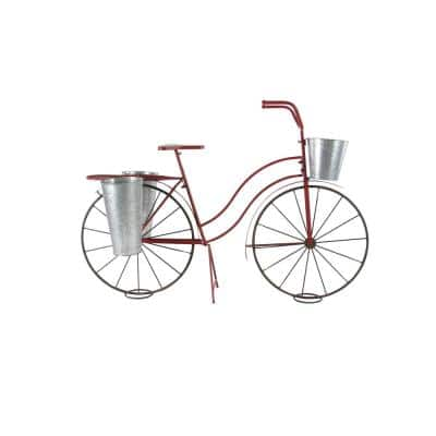 """Vintage Red Bicycle Plant Stand, 56"""" x 37"""""""