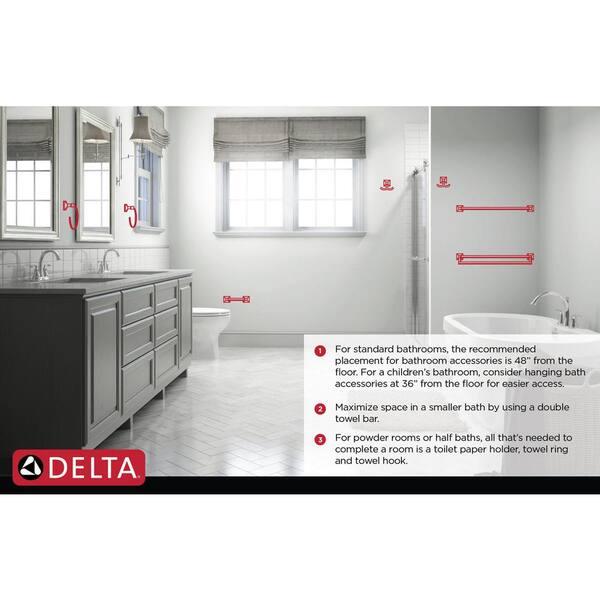 Towel Bar in Matte Black CML24-MB Delta Chamberlain 24 in