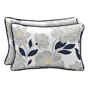 Flower Show Lumbar Outdoor Throw Pillow (2-Pack)