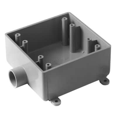 2 Gang 32 cu. in. Type-2 FSE PVC FS Switch Box (Case of 10)
