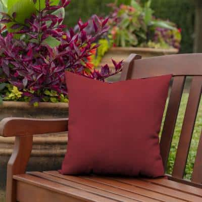 16 x 16 Caliente Canvas Texture Square Outdoor Throw Pillow (2-Pack)