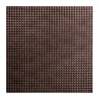 Square 2 ft. x 2 ft. Smoked Pewter Lay-In Vinyl Ceiling Tile (20 sq. ft.)