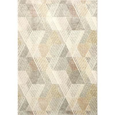 Eclipse Ivory/Multi 7 ft. 10 in. x 10 ft. 10 in. Indoor Area Rug