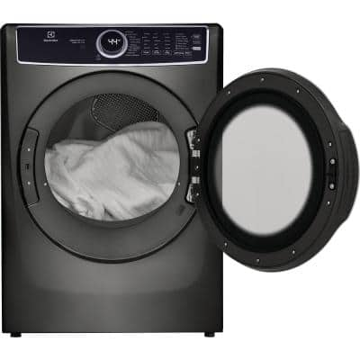 8 cu. ft. Titanium Front Load Perfect Steam Gas Dryer with LuxCare Dry and Instant Refresh