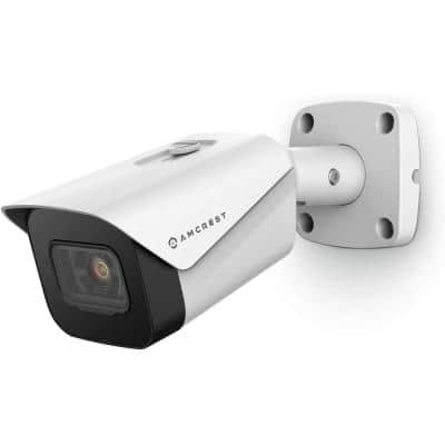UltraHD 4K (8MP) Wired Outdoor White Bullet POE IP Security Camera, 98 ft. Night Vision, 2.8 mm Lens (IP8M-2496EW-V2)