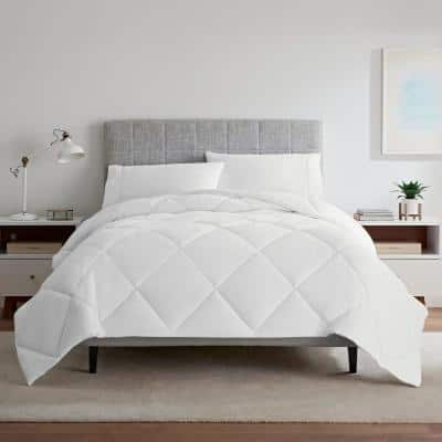 Air Dry Down Alternative Year Round Polyester Twin Comforter in White