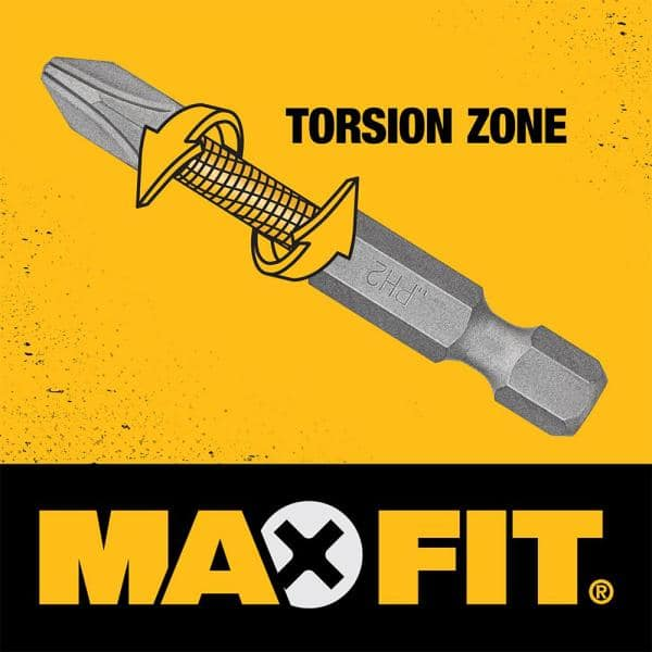 DeWalt Maxfit Right Angle Adapter Drill /& Driver Bit Tough System Case 35 Piece