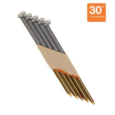 3 in. x 0.131 in. 30° Paper Brite Coated Smooth Shank Nails (4,000 per Pack)