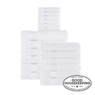 18-Piece Hygrocotton Towel Set in White