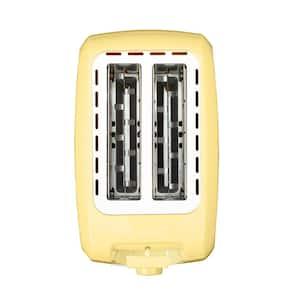 Everyday 750-Watt 2-Slice Yellow Wide Slot Toaster