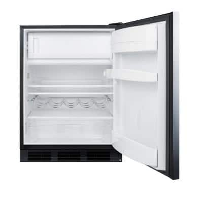 5.1 cu. ft. Mini Refrigerator in Stainless Steel with Freezer, ADA Compliant