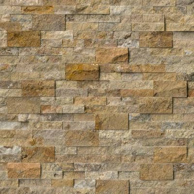 Picasso Ledger Panel 6 in. x 24 in. Natural Travertine Wall Tile (6 sq. ft./case)