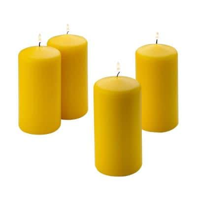 6 in. Tall x 3 in. Wide Citronella Scented Pillar Candle (Set of 4)