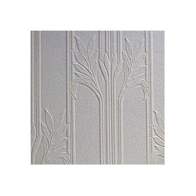 Wildacre Paintable Textured Vinyl White & Off-White Wallpaper Sample