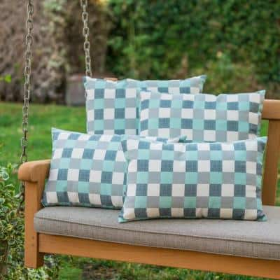 Pendry Blue Outdoor Throw Pillow (4-Pack)