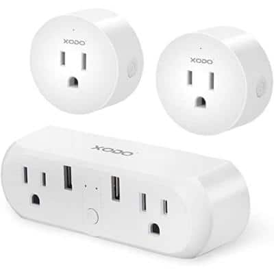 PK4 10Amp to 10Amp 2 USB to Wall Outlets 2 pack