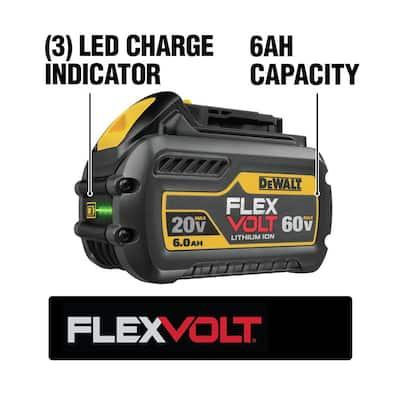 FLEXVOLT 20-Volt/60-Volt MAX Lithium-Ion 6.0Ah Battery Pack with 6 Amp Output Charger