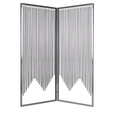 Mariana 5.92 ft. Silver 2-Panel Screen Divider