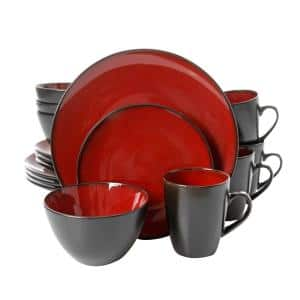 Soho Lounge 16-Piece Casual Red Stoneware Dinnerware Set (Service for 4)